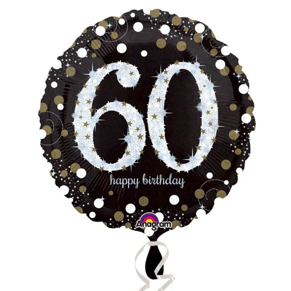 Gold Celebration 60th Foil Balloon